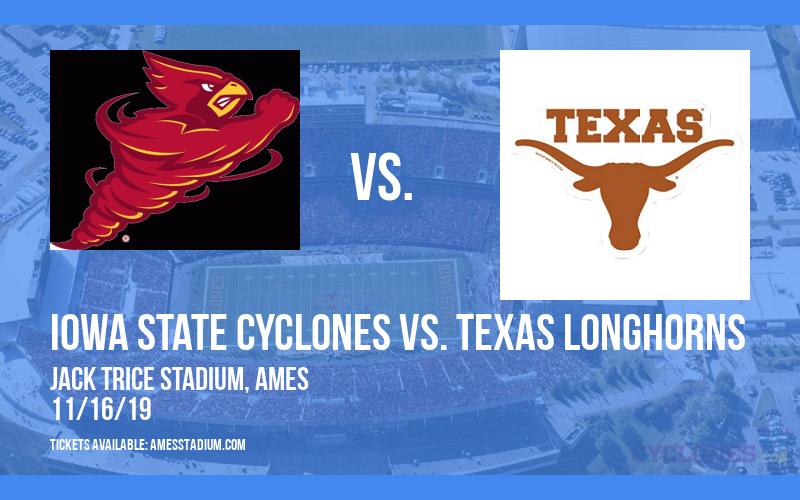 Iowa State Cyclones vs. Texas Longhorns at Jack Trice Stadium