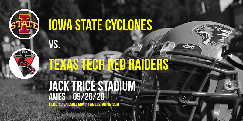 Iowa State Cyclones vs. Texas Tech Red Raiders at Jack Trice Stadium